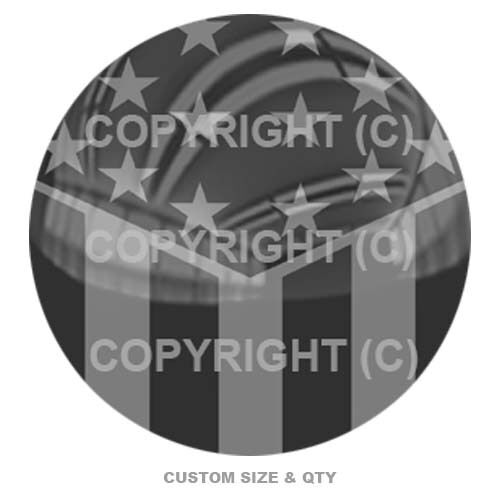 USA Ghost Slant Flag S161 Premium Glossy Round 3D Epoxy Domed Decal Outdoor