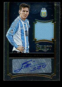 2015-16 Panini Select Soccer Lionel Messi Argentina AUTO ...