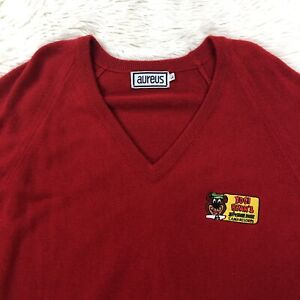 Vtg Yogi Bear Jellystone Park Camp Resort Sweater Red Large Long Sleeve Shirt