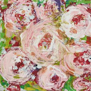 12x12 Print - Farmhouse Roses Floral Flower Cottage Chic Print Katie Jeanne Wood