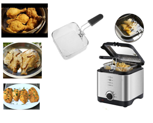 1 5l Mini Compact Small Kitchen Deep Fat Fryer Basket Fish