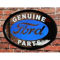 Ford Genuine Parts Wall Mirror - 24w X 17h - Ford Blue Oval - Etched