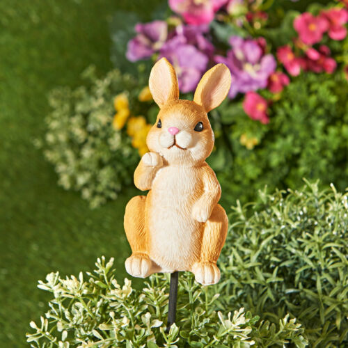 sehr schöner Dekostecker Blumenstecker neu Hase 30cm