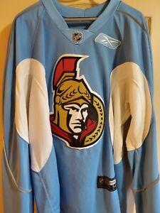 RARE! Reebok Edge 1.0 Retro Van Stralen Practice-Worn Ottawa Senators Jersey 56