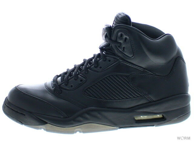 AIR JORDAN 5 RETRO PREM 881432-010 black black 5 Size 9.5