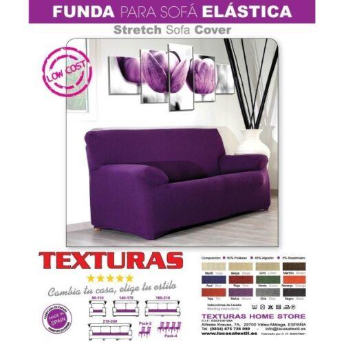 Funda de sofá Elástica LOW COST Varios tamaños disponibles TEXTURAS VIP