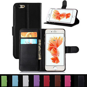 Flip-Wallet-Leather-Phone-Case-Cover-For-Apple-iPhone-4S-5S-SE-6-6S-Plus