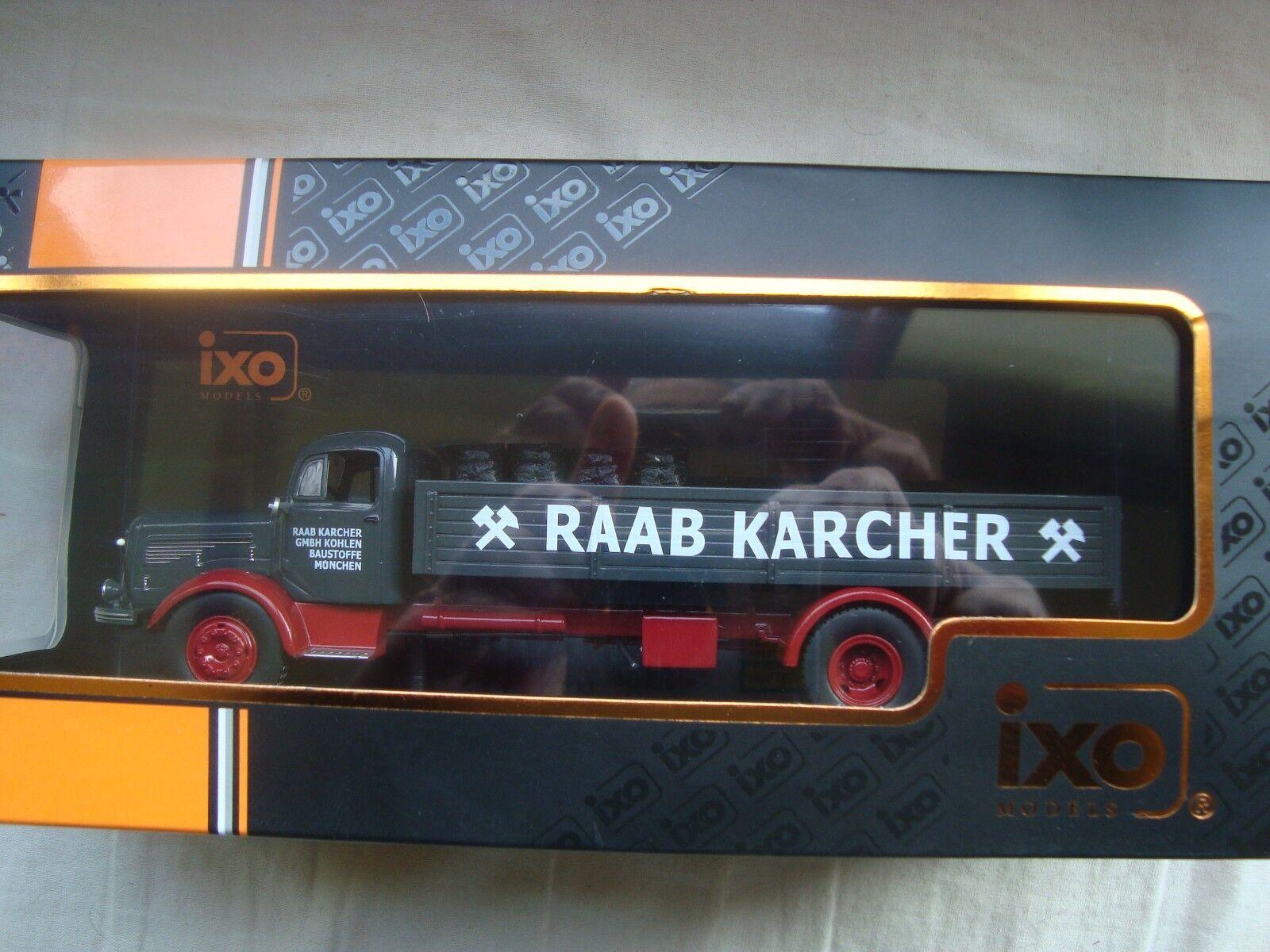CAMION CAMION CAMION MERCEDES BENZ L-325 Raab Karcher avec cargaison CHARBON  1:43 Ixo TRU029   L'exportation  c76c58