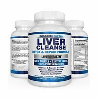 Liver Cleanse Supplement - 22 Herbs Support & Detox: Milk Thist... Free Shipping