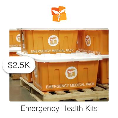 $2500 Charitable Donation For: Emergency Health Kits