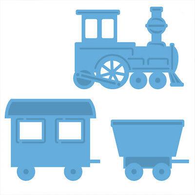 3 x CreaTables Stanzschablone Eisenbahn Train LR0308