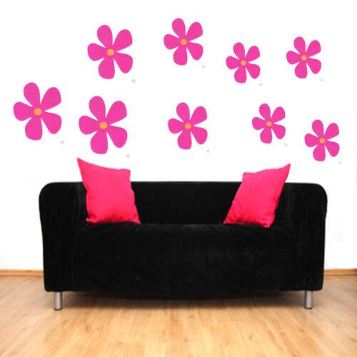 Blumen Aufkleber Fenster Auto Wandtattoo Dekoration Floral Sticker Farbe Kinder