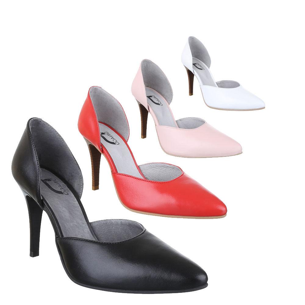 Nuevo zapatos zapatos zapatos señora zapatos de salón ws7r cuero tacón alto  comprar marca