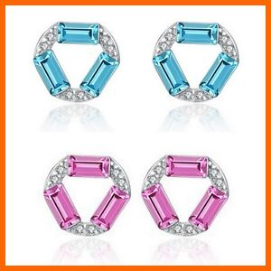 Silber-Kristall-Zirkonia-Ohrstecker-aus-925-Sterlingsilber-blau-pink-Beutel