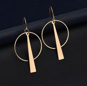 1-Pair-Elegant-Fashion-Women-Geometric-Gold-Circle-Dangle-Earrings-Jewelry