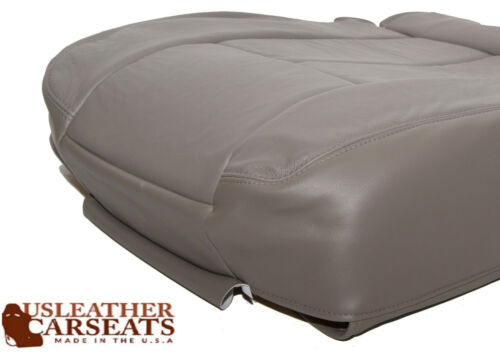 2003 Dodge Ram 1500 Driver Side Bottom Leather Seat Cover Gray