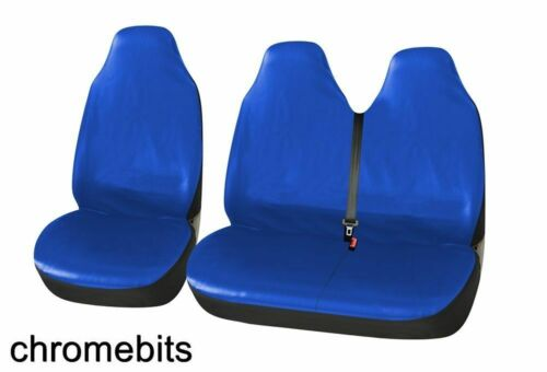 01-14 FOR RENAULT TRAFIC SPORTIVE BLUE HEAVY DUTY LEATHERETTE VAN SEAT COVERS