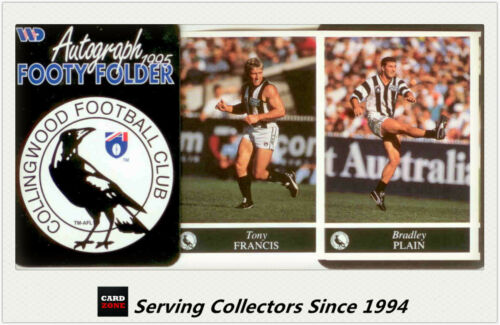 1995 AFL Footy Players Mini multifold picture FolderCollingwood