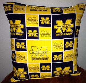 Michigan-University-Pillow-Football-Pillow-Pillow-NCAA-HANDMADE-In-USA