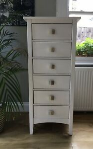 tall narrow chest of drawers white | eBay