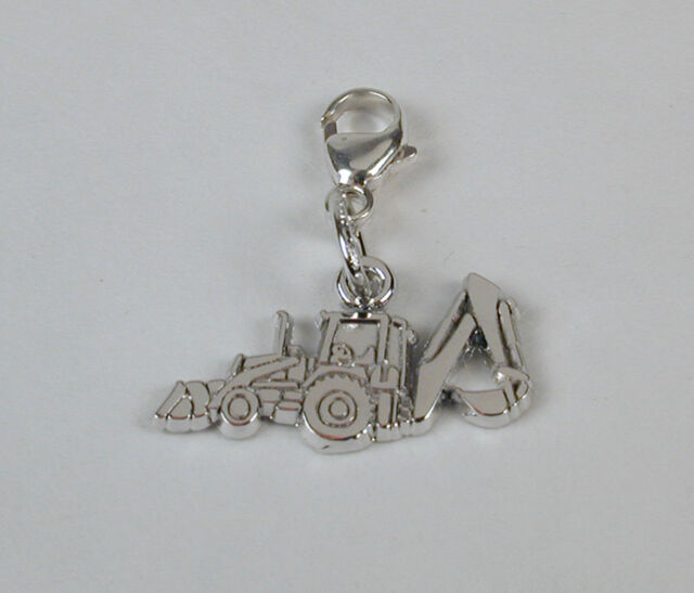 Sterling Silver Backhoe Charm Lobster Claw Clasp Free U.S. Shipping
