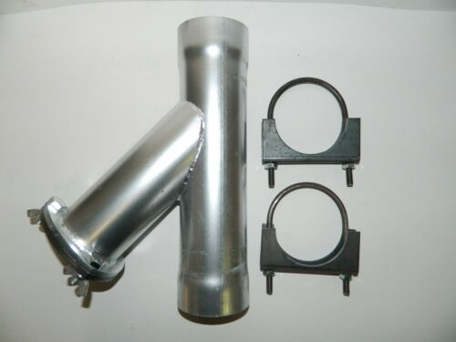 "NEW Exhaust Cutout Manual Steel Weld or Clamp-On 3/"" Diameter Y-PIPE DUMP"