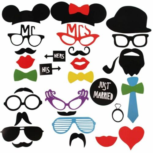 Wedding Decoration Photo Booth Props DIY Mr Mrs Photobooth Mask Party Supplies