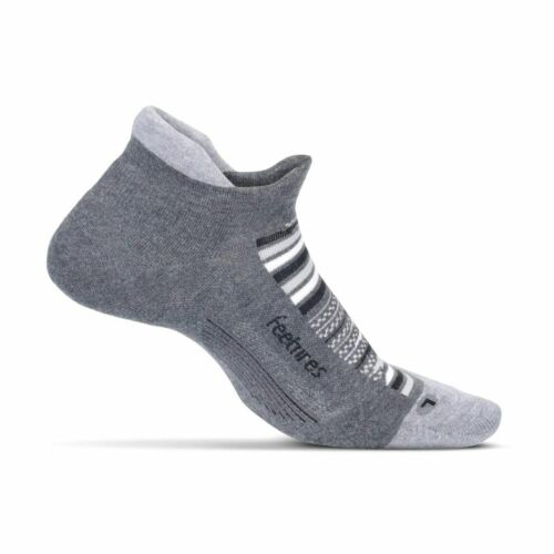 Feetures elite  light cushion no show tab socks running jogging uk 8-11 RRP £13