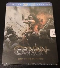 CONAN THE BARBARIAN 3D & 2D Blu-Ray SteelBook Limited Ed Region Free New & Rare!