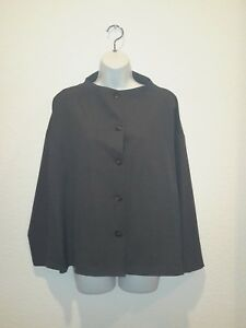 NEW-BLANQUE-Alta-Funnel-Jacket-Charcoal-gray-1-buttondown-suit-work-NWT-353-USA