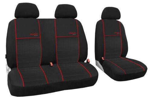 Autositzbezug maßgefertigt im Design TRENDLINE Opel Movano ab 2014 in ROT.