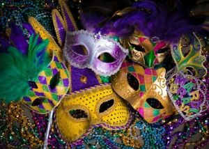 SZZWY 7x5ft Mardi Gras Backdrop Mysterious Carnival Masquerade Background for Photography Carnival Backdrop Mask Birthday Dancing Party Decor Costume Party Photo Wallpaper