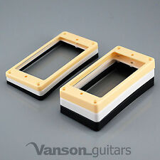 NEW 2 x Curved Base Mounting Rings for Epiphone Les Paul, ES humbucker surround