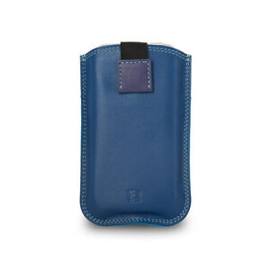 DuDu-Custodia-iPhone-SE-5S-5-4S-4-in-vera-pelle-Blu-multicolore-con-Pull-Up