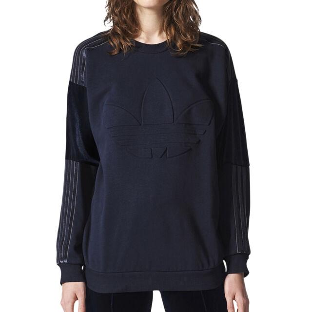 Adidas Originals St.Petersburg Velvet Women's Sweatshirt Legend Ink bq8007