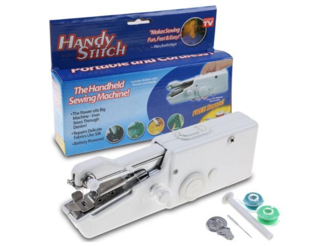 Portable Handy Stitch Battery Power Handheld Sewing Machine EBay Stunning Handy Stitch Portable Sewing Machine