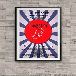 Parks and Recreation Mouse Rat Concert Poster Lil Sebastian Gift ...