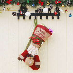 Details about Christmas Decorations Santa Pattern Children\'s Large  Christmas Stockings