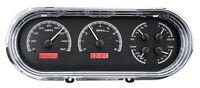 Dakota Digital 63 64 65 Chevy Nova Analog Dash Gauges Black Red Kit Vhx-63c-nov