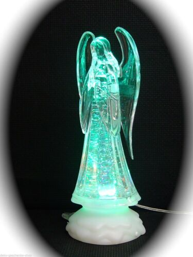 LED Acryl Engel betend mit Farbwechsel und Glitzer 24 cm LED Deko Lampe 70105
