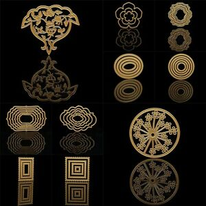 Flower-Stencil-Cutting-Dies-Scrapbook-Embossing-Schablone-Stanzschablone-DIY-DE