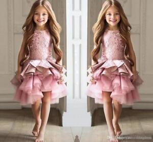 ABAO-Childrens-Girl-Pink-Knee-Length-Ruffled-Tulle-Rhinestone-Lace-Pageant-Dress
