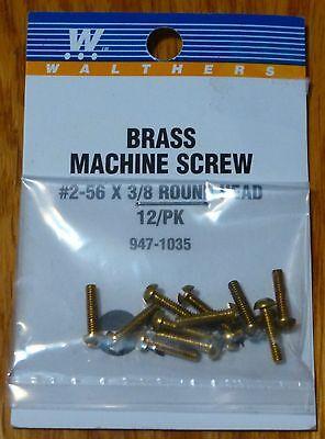 "00-90 Brass Flat Head Machine Screws 3//8 x .047/"" .32 x . Walthers #947-1045"