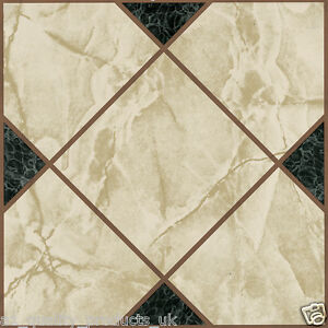 60-x-Vinyl-Floor-Tiles-Self-Adhesive-Bathroom-Kitchen-Victorian-Marble-193