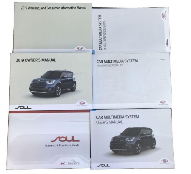 2019 Kia Soul Owners Manual Book Set Multimedia Guide Manual Guide