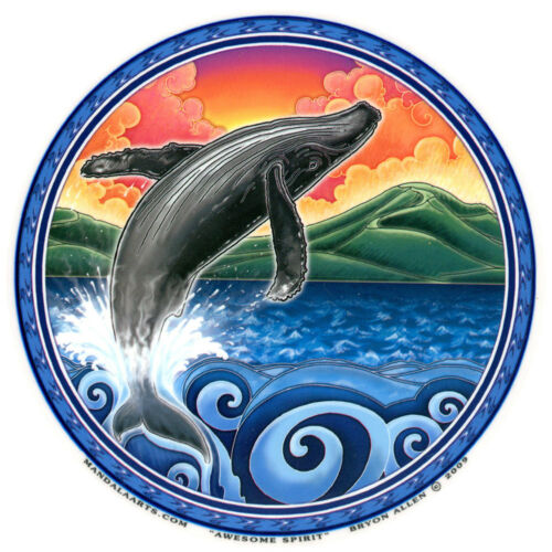 A398 Awesome Spirit Whale Art Decal Window Sticker