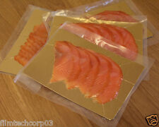 """6"""" x 8"""" Fish Smoked Salmon Gold / Silver Food Vacuum Boards 50 pack"""