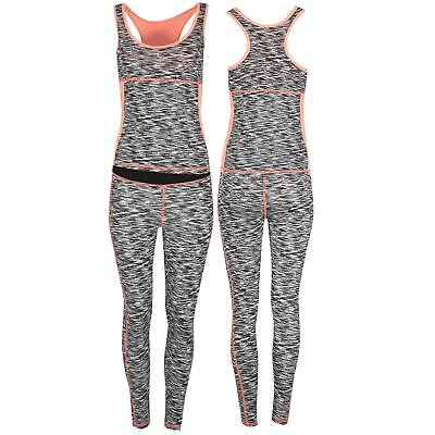 Angemessen Womens Ladies Activewear Gym Sports Running Vest Leggings Active Wear Kit Set