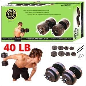Golds Gym Vinyl 40 lb Adjustable Weight Set SHIPS SAME DAY *IN HAND*