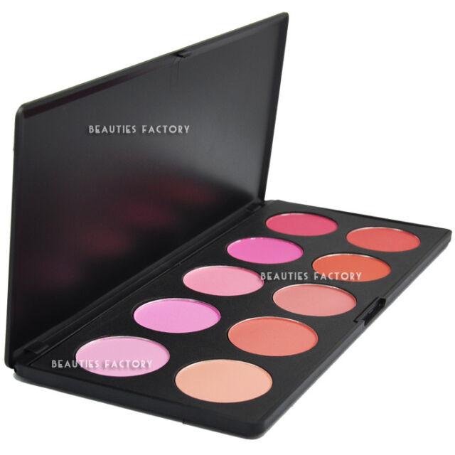 (Saturated : 9 Matte + 1 Shimmer) - 10 Color Blush Makeup Palette #613
